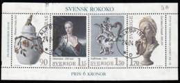 SWEDEN (Sverige) - Scott #1298 Swedish Rococo / Used Souvenir Sheet (ss397) - Blocks & Sheetlets