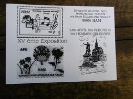 D 80 - Ham - XV ème Exposition - Dimanche 29 Avril 2001 - Ham