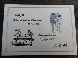 D 80 - Ham - 17 ème Exposition Philatélique - 28 Avril 2002 - Rétrospective Des Sports - Ham
