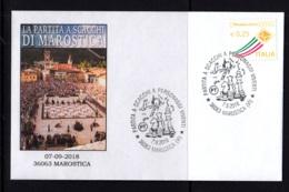 1.- ITALY 2018 SPECIAL POSTMARK LIVING CHESS IN MAROSTICA - Ajedrez