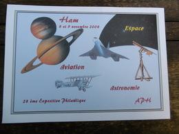 D 80 - Ham - 28 ème Exposition Philatélique - 8 Et 9 Novembre 2008 - Aviation Astronomie Espace - Ham