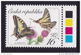 CZECH REPUBLIC , 2016, MNH, BUTTERFLIES, DEFINITIVES, 1v - Vlinders