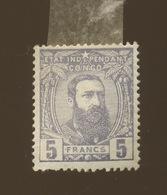 N° 11 *  5F Violet Avec Charnière Bon Centrage  Mais Faux  (cote 1890,-E) - 1884-1894 Precursori & Leopoldo II