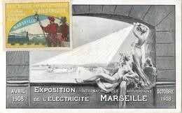 MARSEILLE EXPOSITION INTERNATIONALE DES APPLICATIONS DE L'ELECTRICITE + VIGNETTE 13 - Unclassified