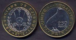 Djibouti 250 Francs 2012 UNC < Bird Animals > Bimetallic - Djibouti