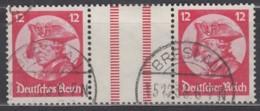 DR WZ 10, Gestempelt, Fridericus 1933 - Zusammendrucke