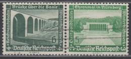 DRW 121 , Gestempelt, WHW Moderne Bauten 1936 - Se-Tenant