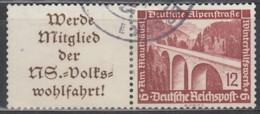 DR W 111 , Gestempelt, WHW Moderne Bauten 1936 - Zusammendrucke