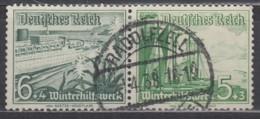 DR W 123 , Gestempelt, WHW Schiffe 1937 - Zusammendrucke