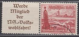 DR W 127, Gestempelt, WHW Schiffe 1937 - Zusammendrucke