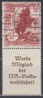 DR S 253, Gestempelt, WHW 1938, Landschaften Und Blumen - Zusammendrucke