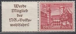 DR W 140, Ungebraucht *, WHW 1939, Bauwerke - Zusammendrucke