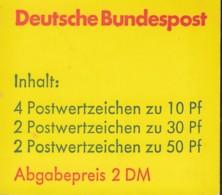 BRD MH 22 I B MZ (mit Zählbalken), Postfrisch **, Burgen Und Schlösser 1980 - Markenheftchen