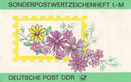 DDR SMHD 30 Mit 10x 3015 DV, Blumen 1986, Pferdebahn - Markenheftchen