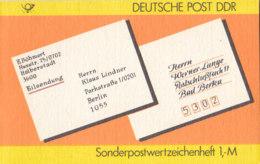 DDR SMHD 34, Postanschriften 1987, Mit 10x 3156, Siegel - Markenheftchen