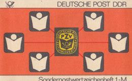 DDR SMHD 24, Post-Zeitungsvertrieb 1985, Mit 10x 2910, Burgen - Markenheftchen
