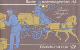 DDR SMHD 14, Postzustellung 1984, Mit 10x 2923, Rennrodeln - Markenheftchen