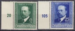 DR 760 II Plattenfehler + 761 Mit Abart, Mit Linkem Rand, Postfrisch **, Emil Von Behring 1940 - Plattenfehler