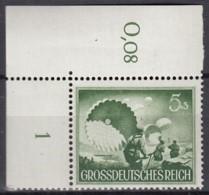 DR 875 X, Mit Eckrand, Mit Falscher Reihenwertzahl, Postfrisch **, Tag Der Wehrmacht  1944 - Germany