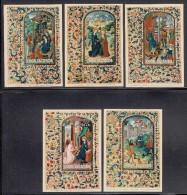 Cook Islands MNH Scott #B34-#B38 Set Of 5 Souvenir Sheets Tapestry Designs - Christmas - Cook