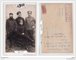7390 AK/PC/1.G.M  CARTE PHOTO  1900  MINDEN  PHOTO  DE PRISONNIERS  AVEC DES RUSSES  TTB - Minden