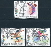1071-1073 / 1129-1131 - Lichtenstein - Sauber Gestempelt - Verano 1996: Atlanta