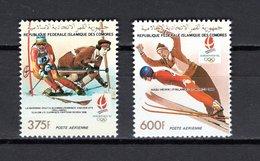 COMORES  PA   N° 296 + 297 NEUFS SANS CHARNIERE  COTE  9.80€  JEUX OLYMPIQUES  ALBERTVILLE  SKI - Isole Comore (1975-...)