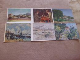 LOT DE SIX CARTES ART...TABLEAUX..PEINTURE..OEUVRES DE CEZANNE - Postcards