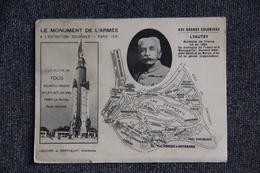 PARIS - Le Monument De L'Armée à L'Exposition Coloniale De 1931 :Nos Grands Coloniaux , LYAUTEY. - Expositions