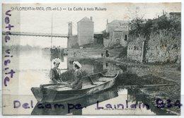 - St-FLORENT Le VIEIL - La Coiffe à Trois Rubans, 2 Femmes, Barque, Rare, Non écrite, édit Veillet, TTBE, Scans. - Autres Communes