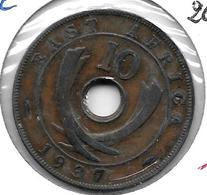 *east Africa 10 Cents 1937    Km 26.1   Vf+ - Colonie Britannique