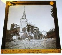 FLORENNES LE VIEUX CHATEAU EN 1902 BELGIQUE NAMUR PLAQUE DE VERRE PHOTOTOGRAPHIE 1900 - Florennes