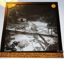 CHUTE DE LA CLEMGIA VULPERA RUINE VIEUX MOULIN GRISONS SUISSE PLAQUE DE VERRE PHOTOTOGRAPHIE 1900 - GR Grisons