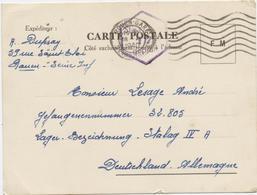 II Guerre Mondiale, Carte Postale,prisonniers De Guerre,FM, Stalag IV A, Lager Bezeichnung, Rouen Oct. 1940, Rare - Marcophilie (Lettres)