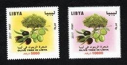 2017- Libya- Libye - Olive Trees In Libya- Les Oliviers En Libye Série- Complete Set 2v.MNH** - Emissions Communes