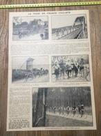ANNEES 20/30 TOUR DE FRANCE CYCLISTE BREST VANNES QUIMPER ROCHE BERNARD SABLES D OLONNES HENDAYE - Vieux Papiers