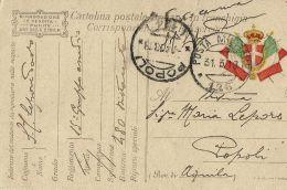 FRANCHIGIA POSTA MILITARE 126 1918 CALTRANO X POPOLI - 1900-44 Vittorio Emanuele III
