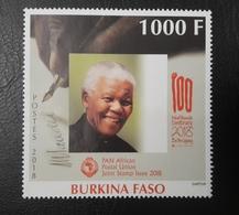 BURKINA FASO 2018 - NELSON MANDELA MANDELLA CENTENARY 100 - PANAFRICAN PAN AFRICAN JOINT  ISSUE- ULTRA RARE - MNH - Burkina Faso (1984-...)