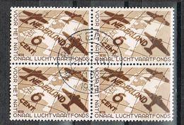 Niederlande 286 Gestempelt Im Viererblock - Luftfahrtfonds 1935 - 1891-1948 (Wilhelmine)