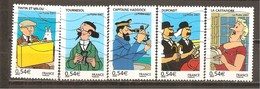 Francia-France Nº Yvert  4051-55 (usado) (o) - Usados