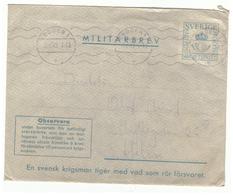 Enveloppe En Franchise Militaire. Suéde - Militaire Zegels