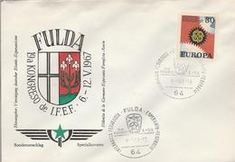 LSC 1967 - ALLEMAGNE - FULDA Cachet ESPERANTO Sur Timbre EUROPA - Esperanto