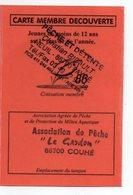 2008--Carte De Pêche Plastifiée Du Département 86 - Carte Découverte -cachet  COUHE--86 - Commemorative Labels