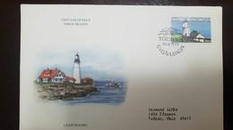 L) 1985 FAROE ISLANDS, LIGHTHOUSES, BOAT, ARCHITECTURE, CIRCULATED COVER FROM FAROE ISLANDS TO TOLEDO OHIO, FDC - Faroe Islands