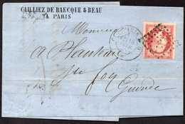 France Paris To Sainte-Foy-la-Grande Cover 1858 - 1853-1860 Napoléon III