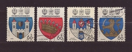 Czechoslovakia Tschechoslowakei 1977 Gest ⊙ Mi 2360-2363 Sc 2099-2102 Coat Of Arms, Städtewappen. - Czechoslovakia