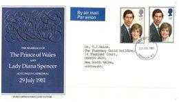 (666) UK To Australia - Royal Wedding 1981 FDC Cover - FDC
