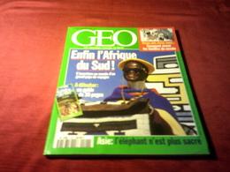 MAGAZINE GEO  No 190 DECEMBRE 1994 ENFIN L'AFRIQUE DU SUD - Tourisme & Régions