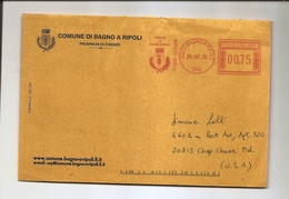 ITALY COVER - Official - Commune Bagno Ripoli Province Of Florence - To USA 2012 - Italy