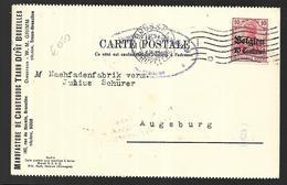 Belgique Carte Publicitaire Du  07 10 1916 Sous Occupation Allemande Censurée - Guerre 14-18